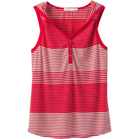Prana Henley Midsummer Tank Women Red Ribbon